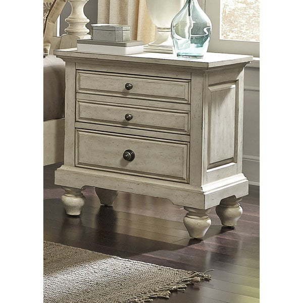 Liberty Furniture High Country Pine White Washed 2 Drawer Nightstand    697 BR61