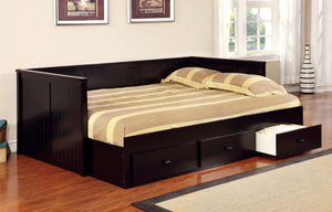 Furniture Of America Adeline Cottage Style Daybed With Drawers In Black-Day Beds-HipBeds.com