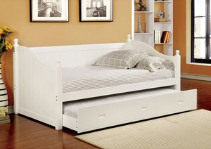 Furniture Of America Malanna Daybed With Trundle White-Day Beds-HipBeds.com