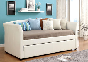 Furniture Of America Triston Platform Leatherette Daybed White-Day Beds-HipBeds.com