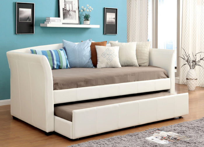 Furniture Of America Triston Platform Leatherette Daybed  White