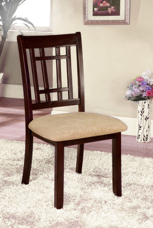 Furniture Of America Brooks 2Pc Cut Out Back Dinner Chair Dark Cherry-Dining Chairs-HipBeds.com