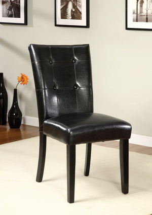 Furniture Of America Rubylynn 2Pc Leatherette Dinner Chair Acacia & Black-Dining Chairs-HipBeds.com
