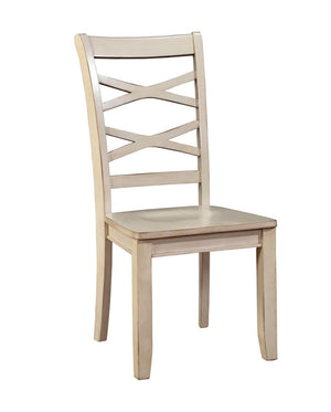 Furniture Of America Orsen 2Pc Cut Out Back Dinner Chair White-Dining Chairs-HipBeds.com