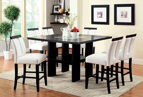Furniture Of America Daneissa Led Light Up Counter Height Table Black-Tables-HipBeds.com
