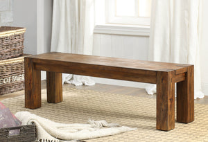 Furniture Of America Contessa Rustic Wood Bench Dark Oak-Benches-HipBeds.com