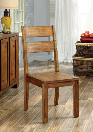 Furniture Of America Contessa 2Pc Rustic Dinner Chair Dark Oak-Dining Chairs-HipBeds.com