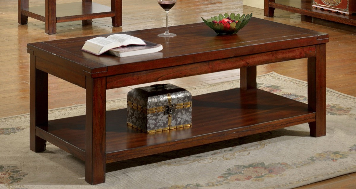 Furniture Of America Falco Open Shelf Coffee Table Dark Cherry Coffee Tables  HipBeds.