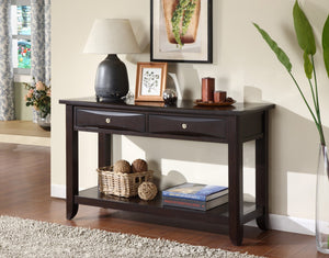 Furniture Of America Deluce Square 2 Drawer Coffee Table Espresso-Coffee Tables-HipBeds.com