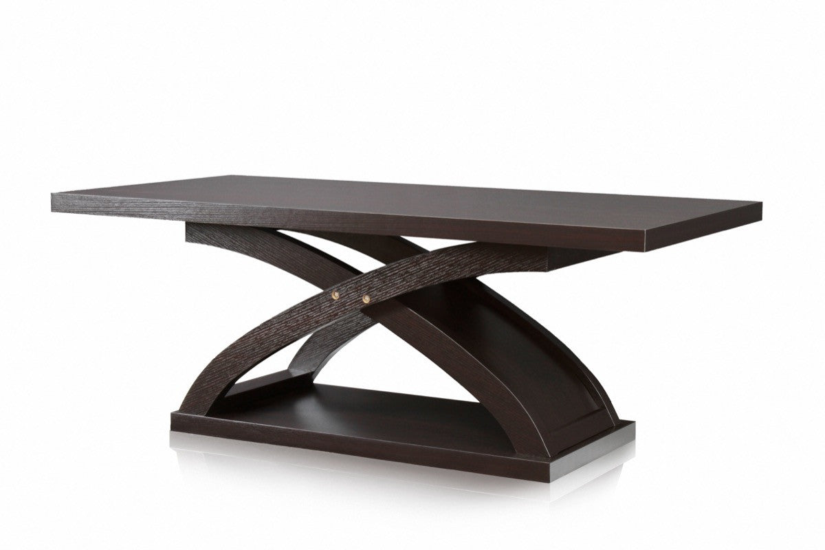 Furniture Of America Kanten Curved X Base Coffee Table Espresso Coffee  Tables HipBeds ...