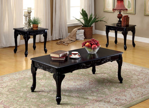 Furniture Of America Renaldo 3Pk Traditional Coffee Table Set Dark Cherry-Coffee Tables-HipBeds.com