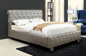 Furniture Of America Soria Leatherette Queen Bed With Bluetooth Pink-Platform Beds-HipBeds.com
