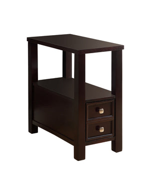 Furniture Of America Haster Single Drawer Accent Table Espresso-Tables-HipBeds.com