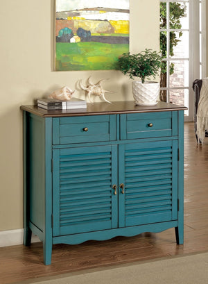 Furniture Of America Gania Dual Cabinet Storage Chest Antique Teal-Chests-HipBeds.com