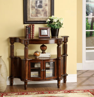Furniture Of America Exene Dual Window Cabinet Hallway Chest Antique Walnut-Chests-HipBeds.com