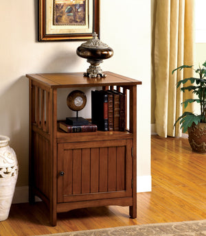 Furniture Of America Eli Open Shelf Side Table Antique Oak-Tables-HipBeds.com