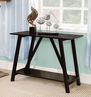 Furniture Of America Festina Dual Shelf Console Table Black-Console Tables-HipBeds.com