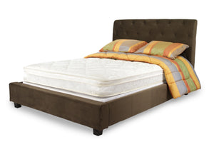 Furniture Of America Poppo 8 Inch Queen Size Euro Pillow Top Mattress White-Mattresses-HipBeds.com