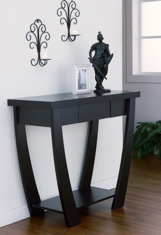 Furniture Of America Hymen Curved Leg Entryway Table Black-Tables-HipBeds.com
