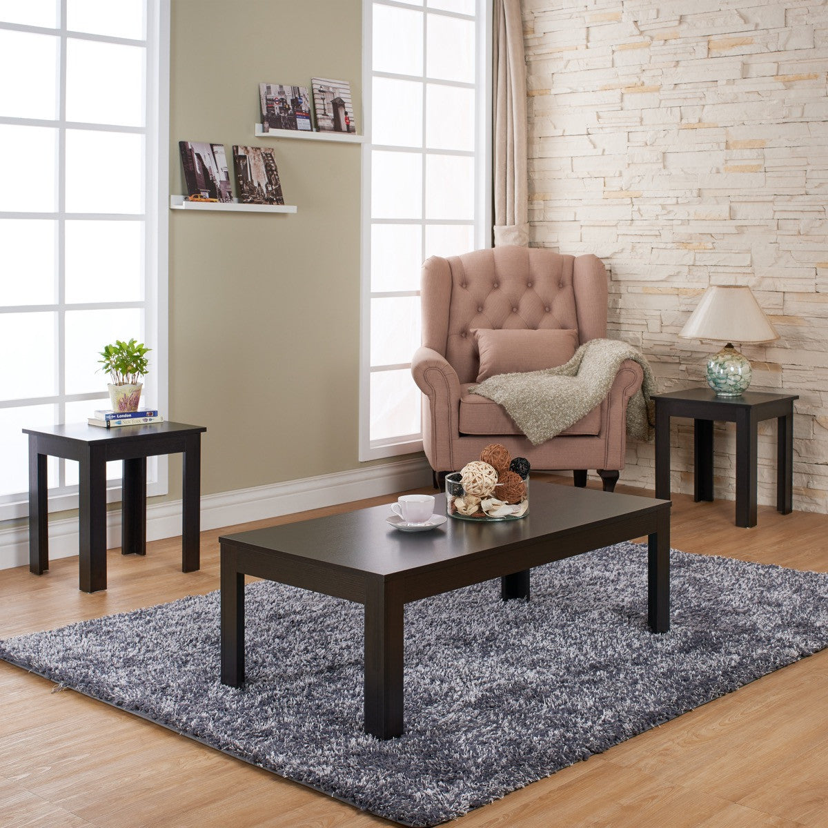 Cappuccino Coffee Table Set.Furniture Of America Somina 3pk Coffee Table Set Cappuccino