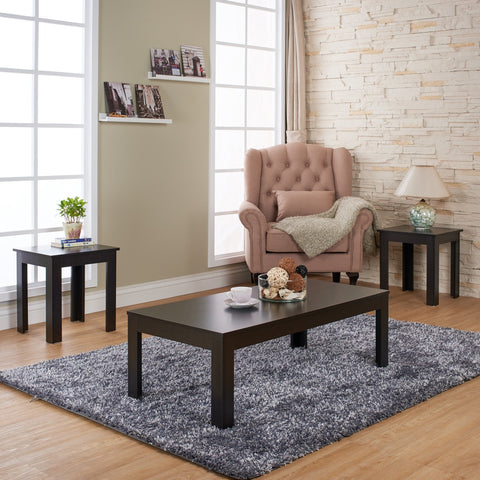 Furniture Of America Somina 3Pk Coffee Table Set Cappuccino-Coffee Tables-HipBeds.com
