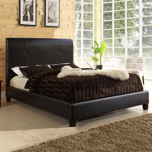 Baxton Studio Cambridge Dark Brown Queen Sized Bed - Dark Brown-Platform Beds-HipBeds.com