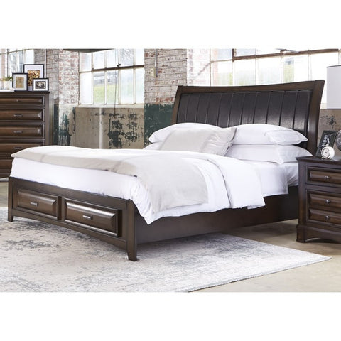 Liberty Furniture Knollwood Dark Cognac Storage Bed - 258-BR-XSB-Bookcase Beds-HipBeds.com