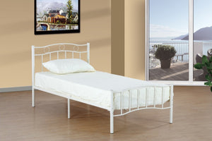 Donco Kids Twin Bed White MPD-1175SWH-Panel Beds-HipBeds.com