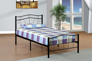 Donco Kids Twin Bed Black MPD-1186SBK-Panel Beds-HipBeds.com