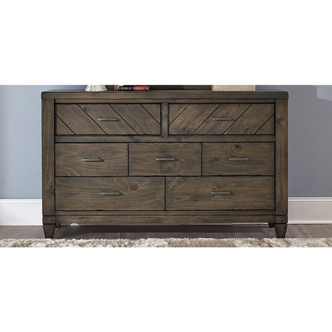 Liberty Furniture Modern Country Harvest Brown 7-Drawer Dresser - 833-BR31-Dressers-HipBeds.com