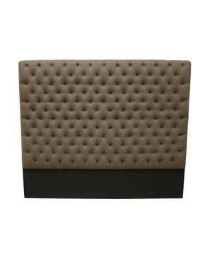 "Lennox Design Franck Tufted Linen King Headboard, 8"" long - Brown-Headboards & Footboards-HipBeds.com"