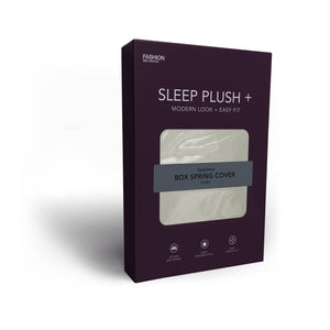Sleep Plush StyleWrap Ivory Fabric Box Spring Cover, King-Protectors & Encasements-HipBeds.com