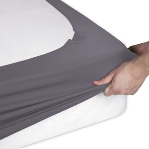 Sleep Plush StyleWrap Stone Fabric Box Spring Cover, King-Protectors & Encasements-HipBeds.com