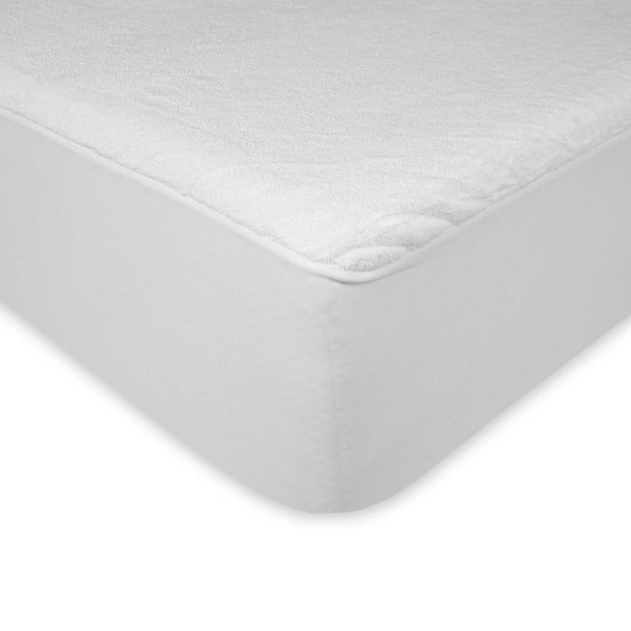 Sleep Plush Mattress Protector Bed Sheet w/ Ultra-Soft & Waterproof Fabric, Twin XL