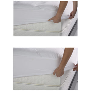 Sleep Chill Mattress Protector w/ Soft & Moisture Resistant CoolMax Fabric, King-Protectors & Encasements-HipBeds.com