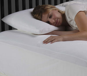 Sleep Chill Pillow Protector w/ Soft & Moisture Resistant CoolMax Fabric, Standard / Queen-Protectors & Encasements-HipBeds.com