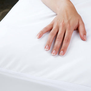 Sleep Calm + Mattress Protector Bed Sheet w/ Moisture & Bacteria Resistant Crypton Fabric, King-Protectors & Encasements-HipBeds.com