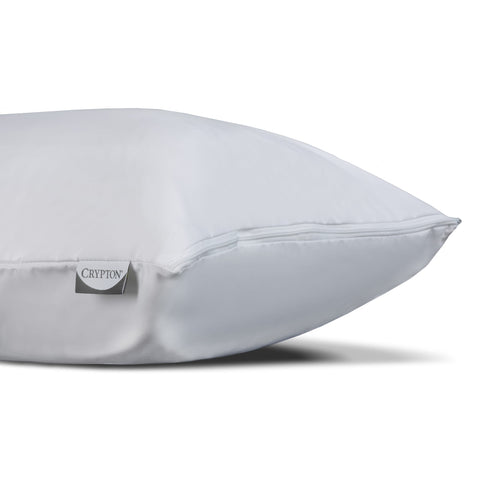 Sleep Calm + Pillow Protector w/ Moisture & Bacteria Resistant Crypton Fabric, Standard / Queen-Protectors & Encasements-HipBeds.com
