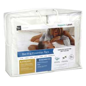 SleepSense 5-Piece Bed Bug Prevention Pack Plus w/ InvisiCase Pillow Protectors & 9-Inch Bed Encasement Bundle, King-Protectors & Encasements-HipBeds.com