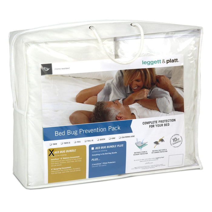 SleepSense 3-Piece Bed Bug Prevention Pack w/ InvisiCase 9-Inch Mattress & Box Spring Encasement Bundle, California King