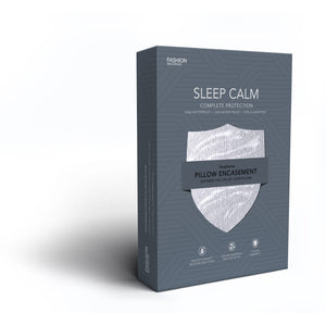 Sleep Calm Pillow Encasement w/ Stain & Dust Mite Defense, King / California King-Protectors & Encasements-HipBeds.com