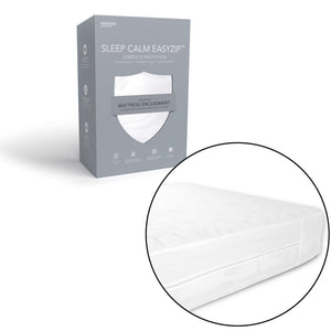 Sleep Calm Expandable Mattress Encasement w/ Stain & Dust Mite Defense, King-Protectors & Encasements-HipBeds.com