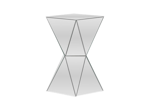 Baxton Studio Rebecca Contemporary Multi-Faceted Mirrored Side Table