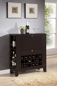 Baxton Studio Modesto Brown Modern Dry Bar and Wine Cabinet-Wine Cabinets & Racks-HipBeds.com