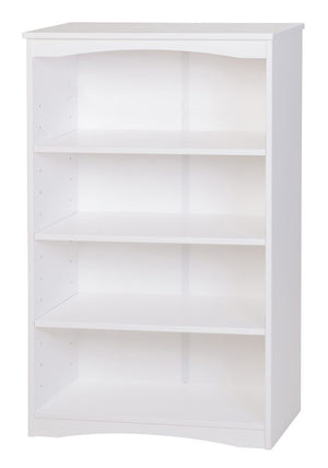 "Camaflexi Bookcase - Essentials Wooden Bookcase 48"" High - White Finish - 41103-Bookcase-HipBeds.com"