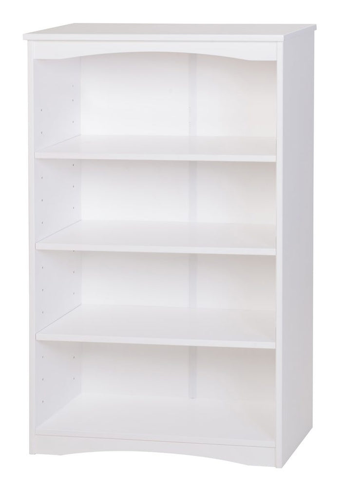"Camaflexi Bookcase - Essentials Wooden Bookcase 48"" High - White Finish - 41103"