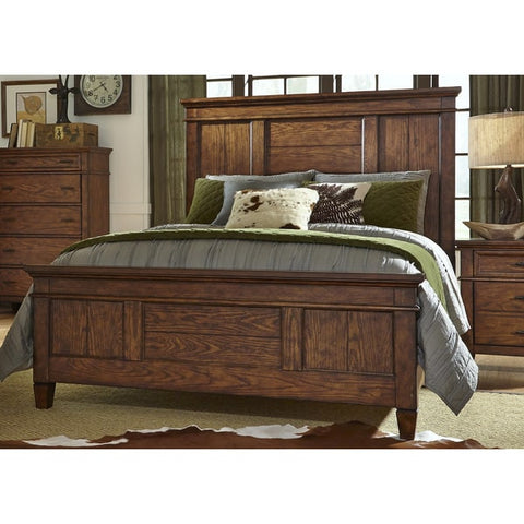 Liberty Furniture Rocky Mountain Whiskey Brown Panel Bed Set - 616-BR-XPB-Panel Beds-HipBeds.com
