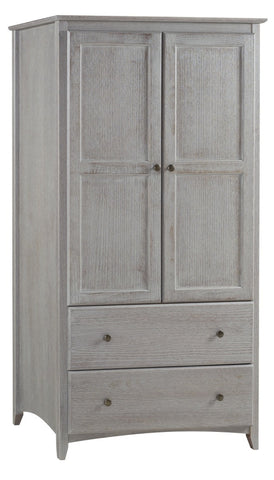 Camaflexi Shaker Style Wardrobe 2 Doors/2 Drawers - Weathered Grey Finish - SHK237-Wardrobes-HipBeds.com