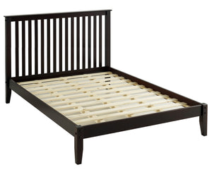 Camaflexi Mission Style Queen Size Platform Bed - Cappuccino Finish - SHK282-Platform Beds-HipBeds.com