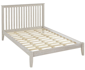 Camaflexi Mission Style Queen Size Platform Bed - Weathered White Finish - SHK286-Platform Beds-HipBeds.com